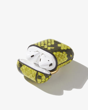 AirPod Case - Neon Green Python Tech accessories
