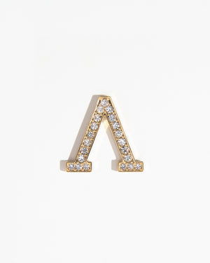 Clear Crystal Embellished Metal Greek Letter Sticker Personalization