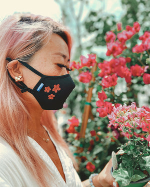 Sonix X LS&B Embroidered Face Mask - Flower