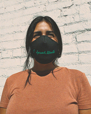 Sonix X LS&B Embroidered Face Mask - I Speak Plants