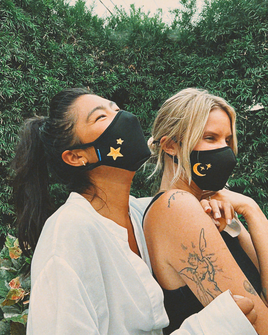 Sonix X LS&B Embroidered Face Mask - Crescent & Stars