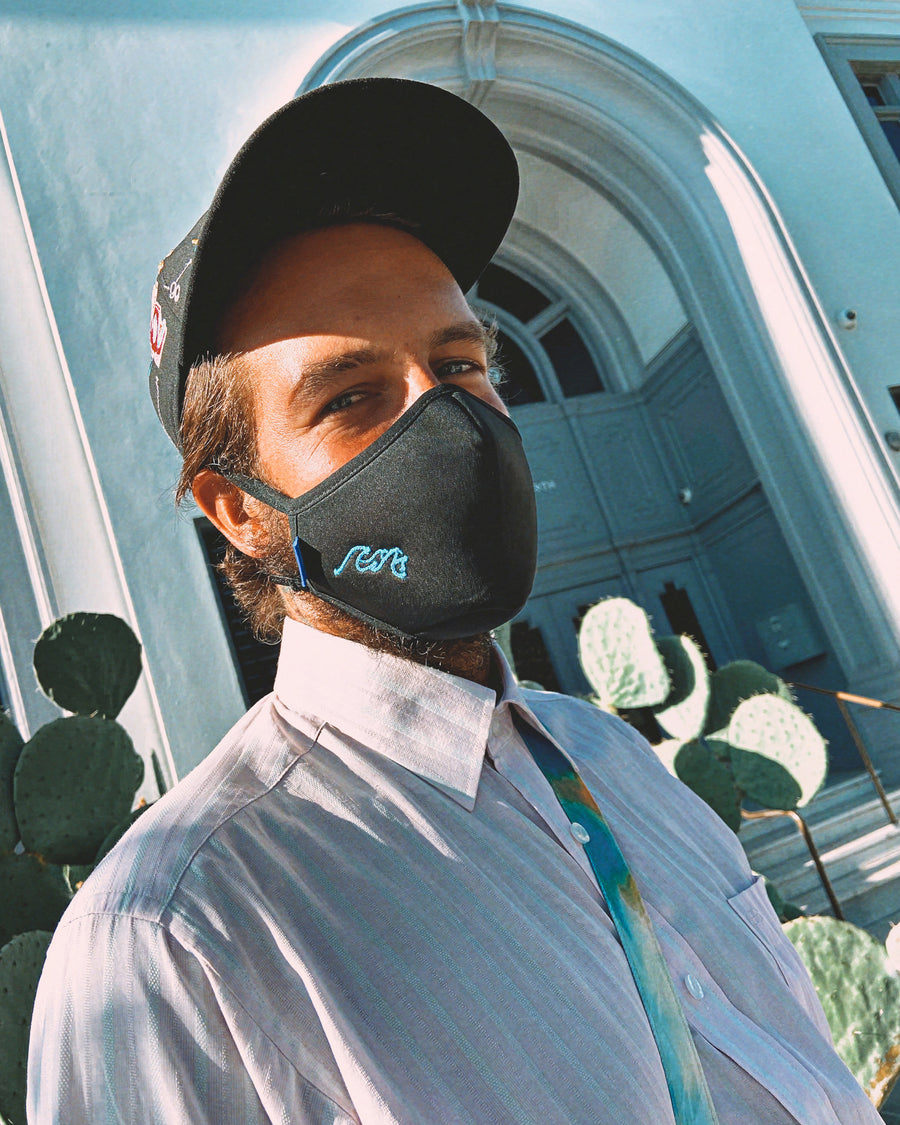 Sonix X LS&B Embroidered Face Mask - Waves