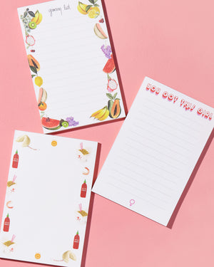 Notepads - Femme To-do pads