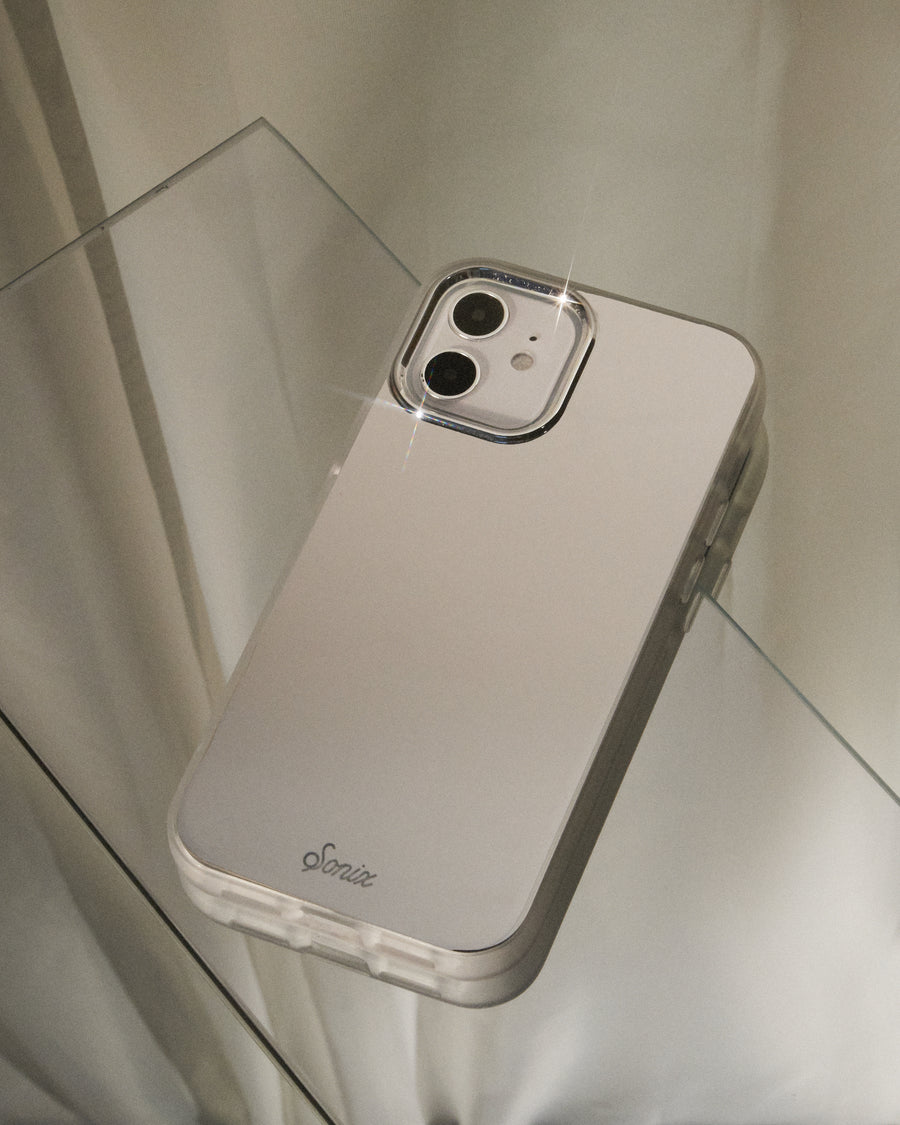 Silver Chrome iPhone Case