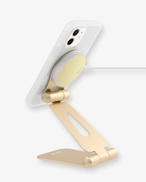 Pedestal, Magnetic Phone Stand - Gold