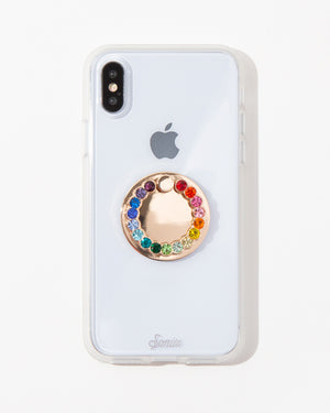 Embellished Rhinestone Ring, Rainbow Phone rings