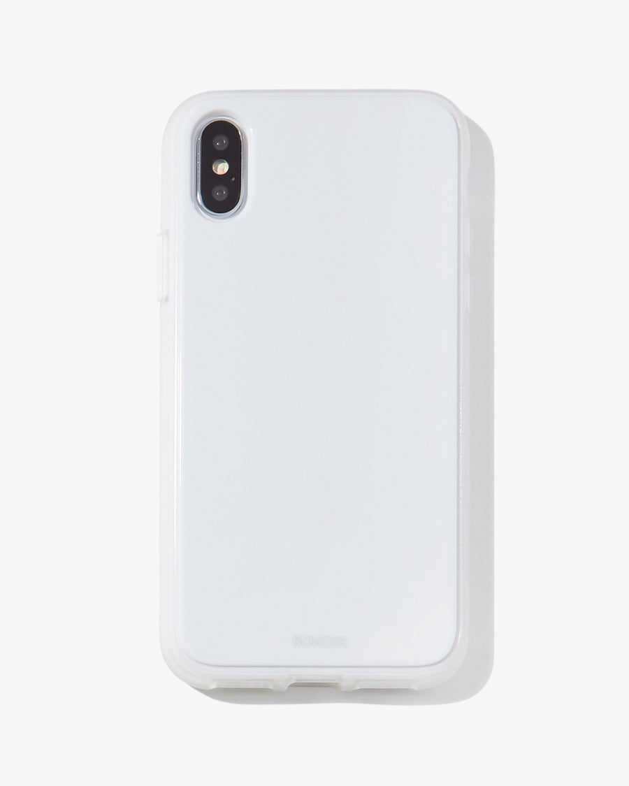 Piano Finish iPhone Case- White