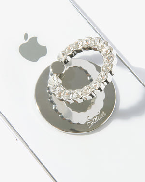 Embellished Rhinestone Ring, Silver Phone rings