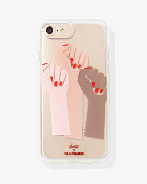 Femme Fists iPhone Case Case with a cause