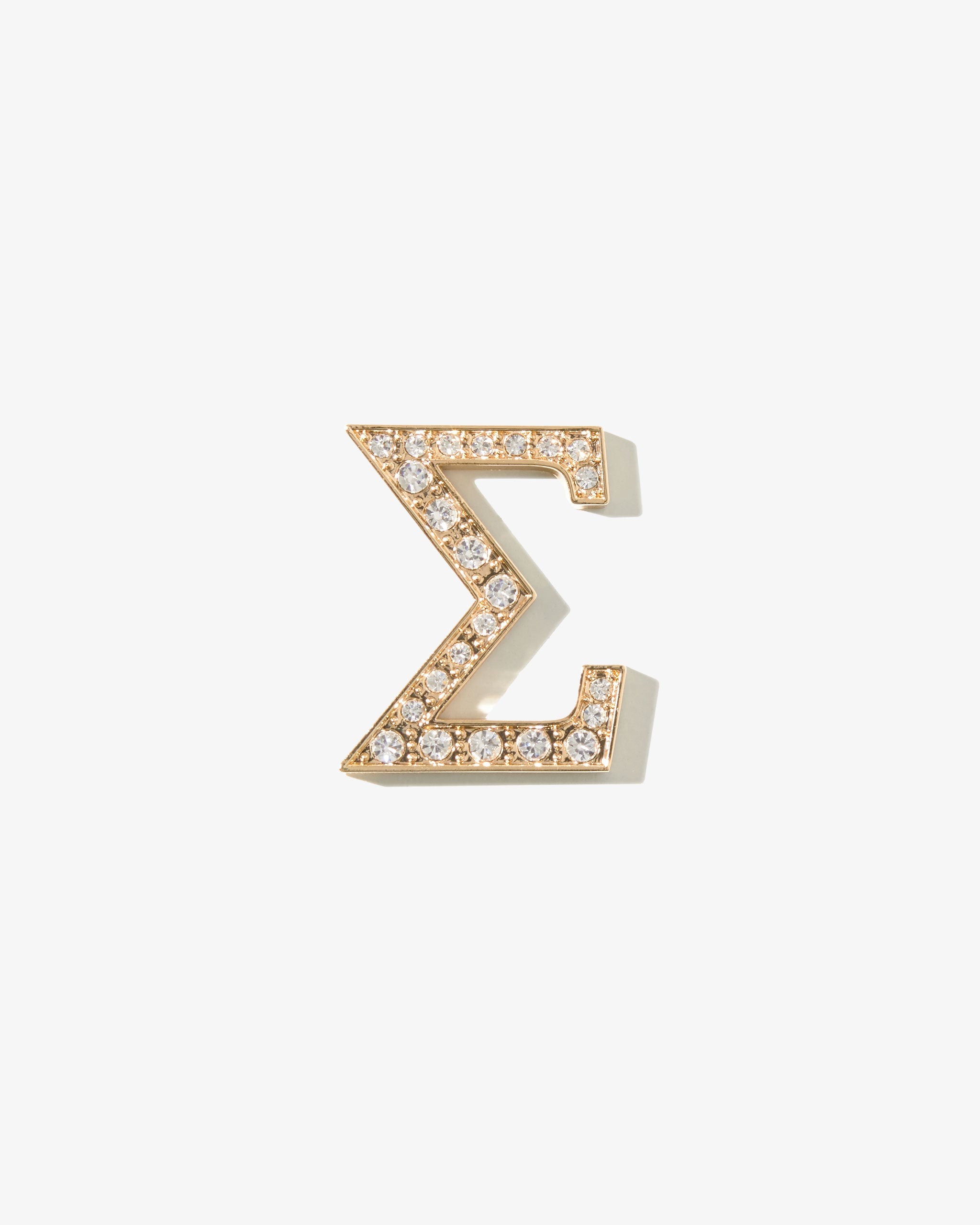 Clear E Sonix Crystal Embellished Metal Alphabet Letter Sticker