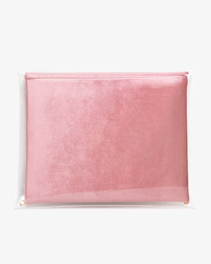 "13"" PVC Rose Velvet Laptop Clutch"