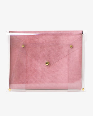 "13"" PVC Rose Velvet Laptop Clutch Laptop clutches"