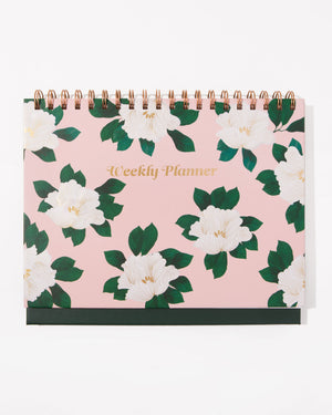 Weekly Desk Planner - Tropical Deco Sonix paper