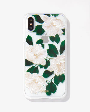 Tropical Deco White iPhone Case