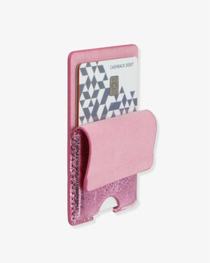 Vegan Leather Adhesive Elastic Wallet - Mauve