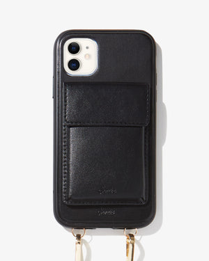 Tres Case Crossbody iPhone Case- Black All