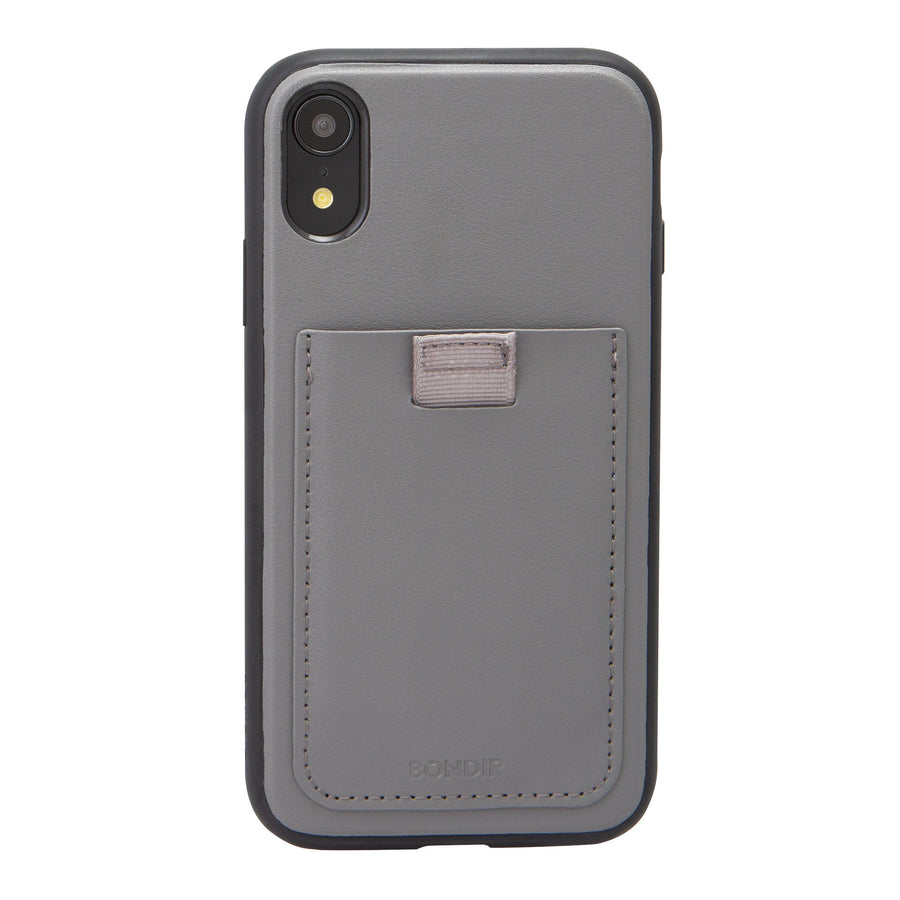 Gray Leather Wallet iPhone Case