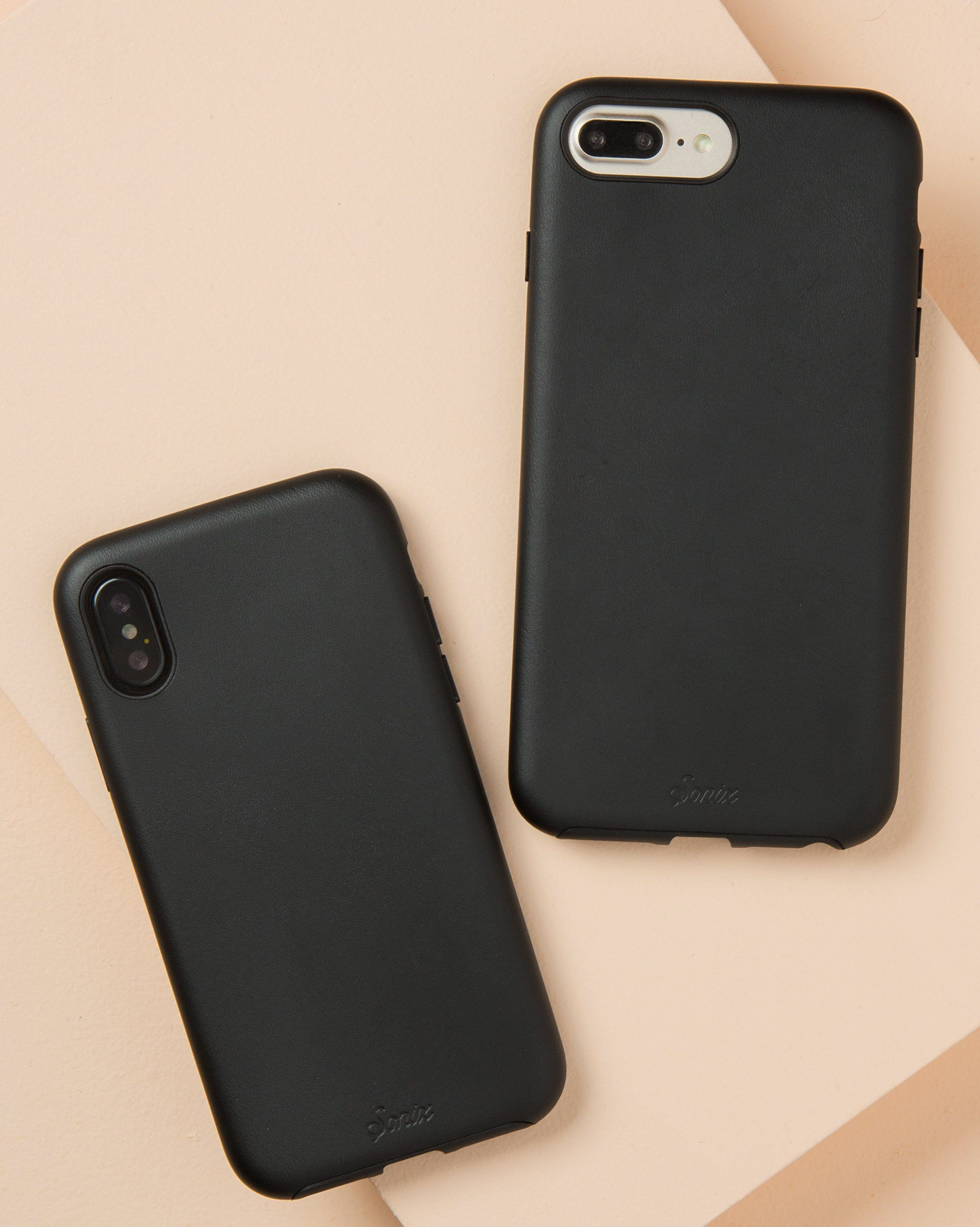 black leather iphone 8 case