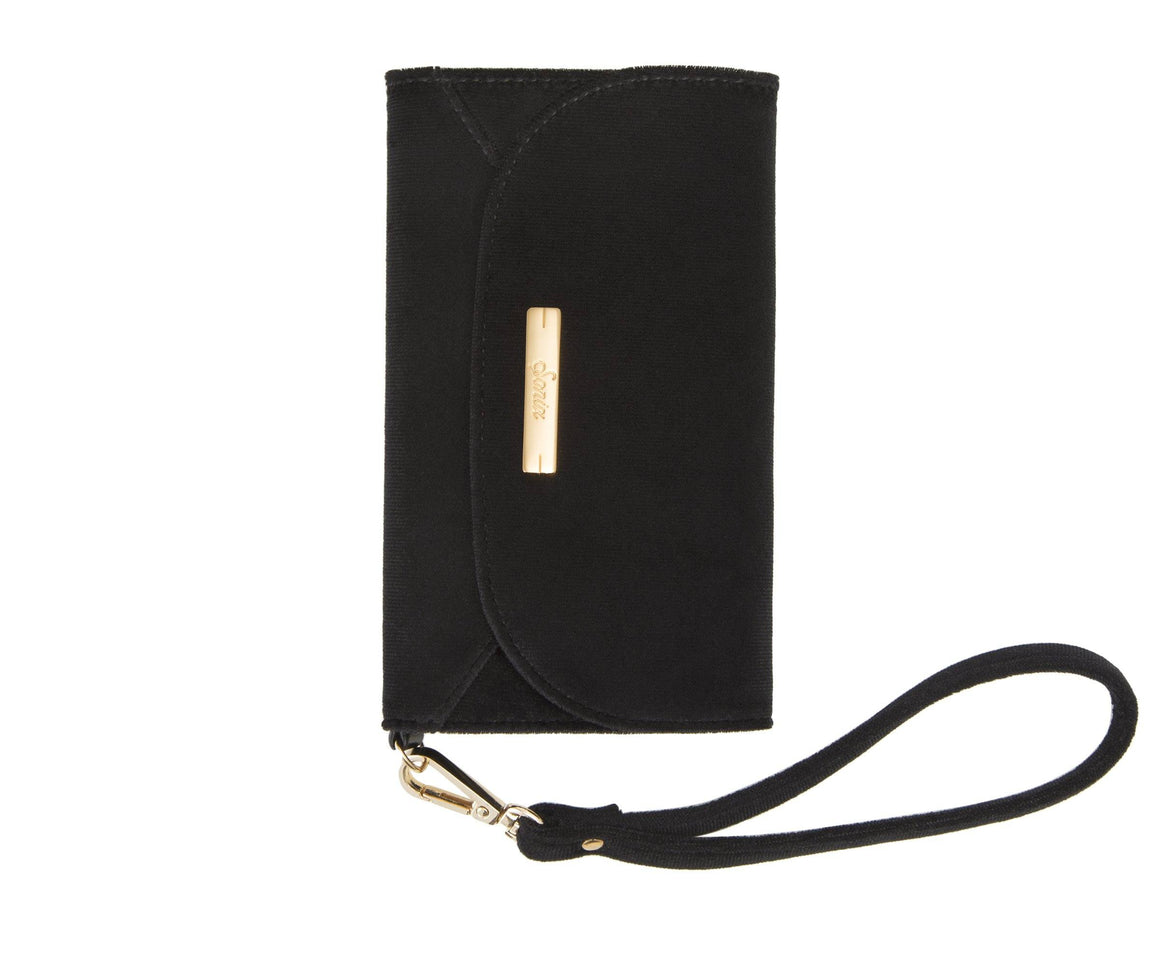 Embellished Black Velvet Wristlet iPhone Case