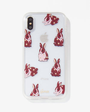 Chubby Bunny iPhone Case Red