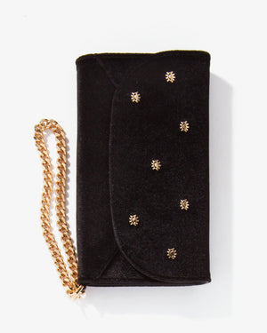 Cases - Embellished Black Velvet Wristlet, IPhone XS/X Black
