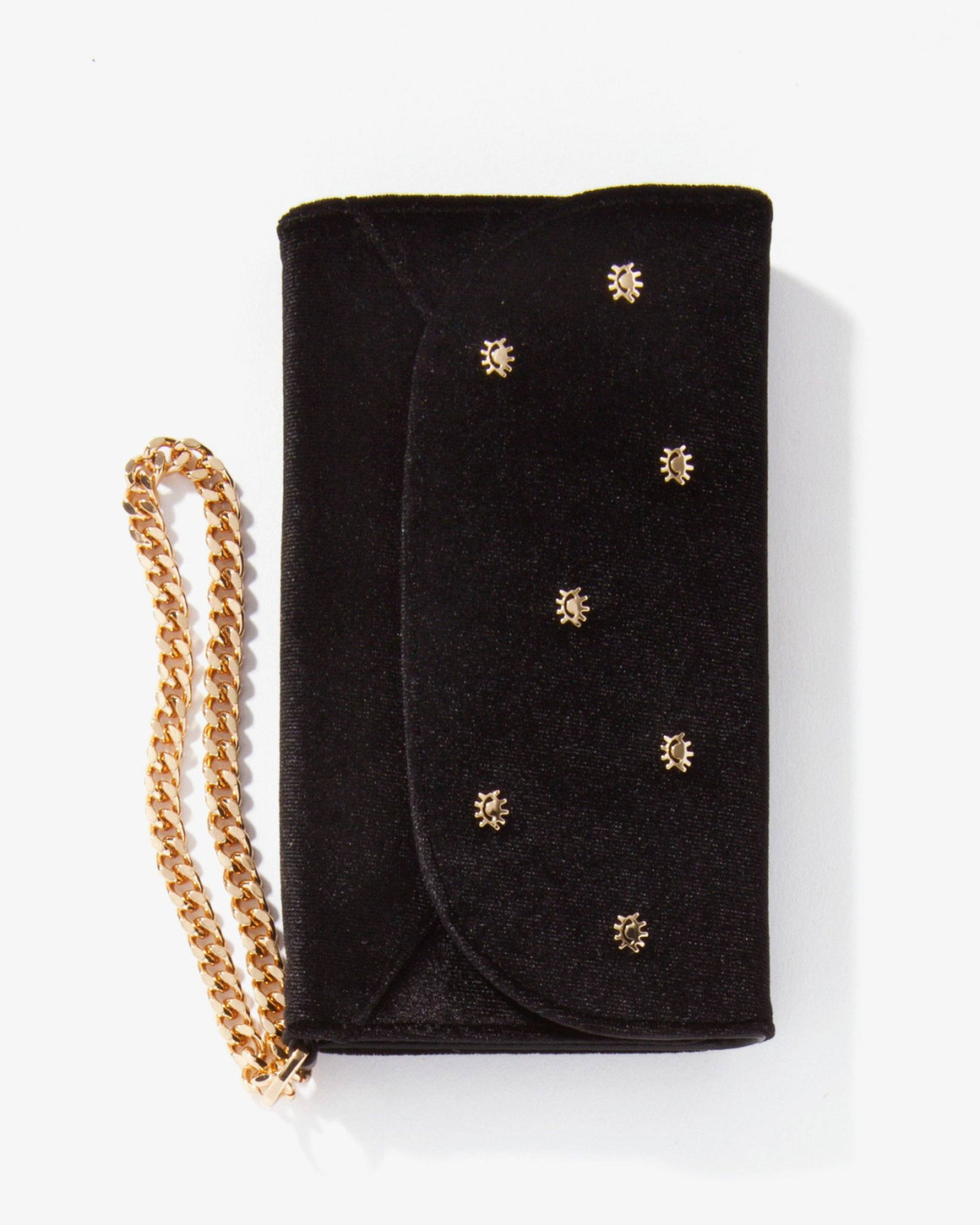 Cases - Embellished Black Velvet Wristlet, IPhone XS/X