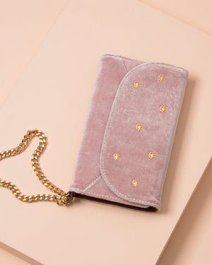 Cases - Embellished Rose Velvet Wristlet, IPhone XS/X Phone cases