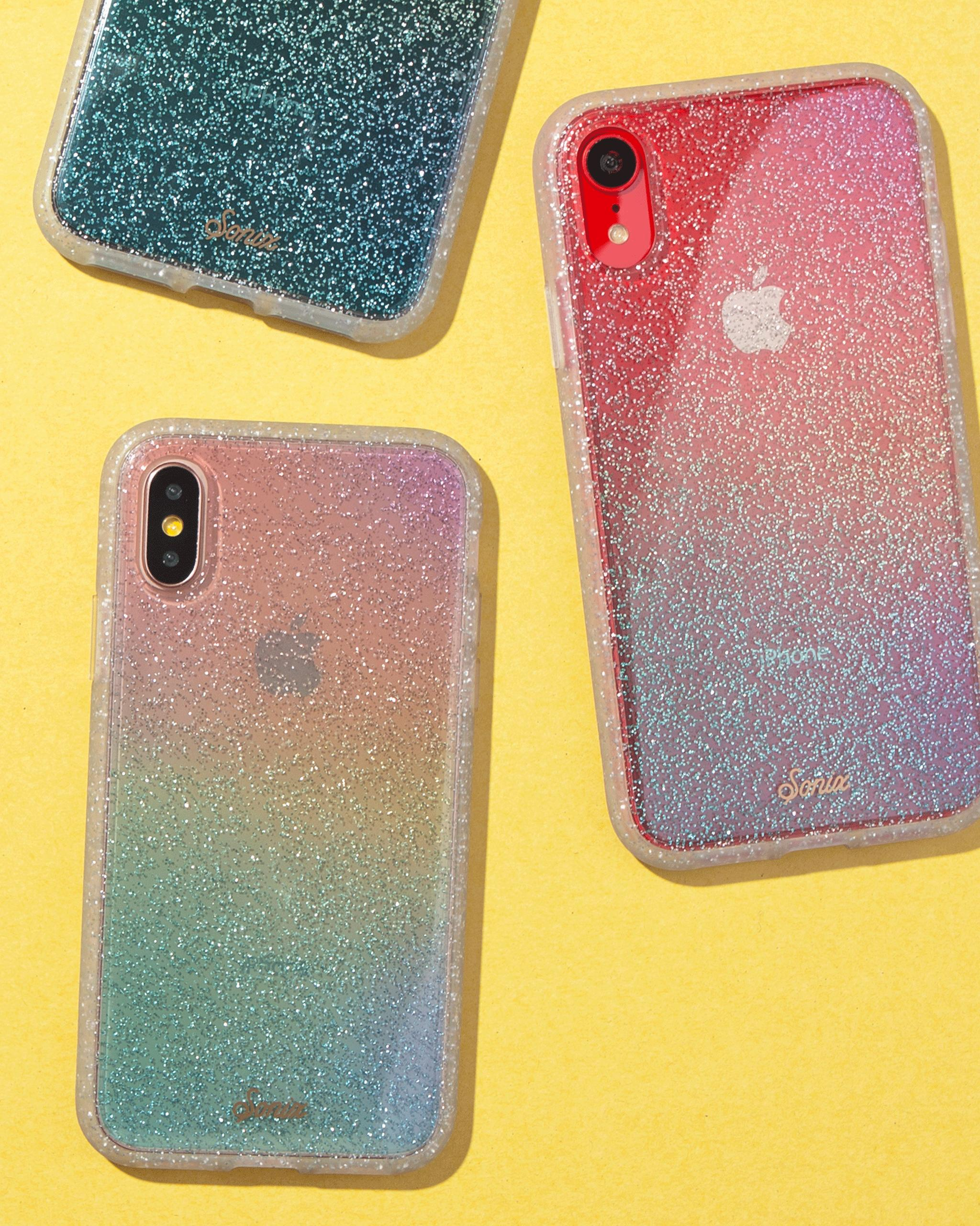 innovative design 233f4 372c4 Rainbow Glitter, iPhone XS/X