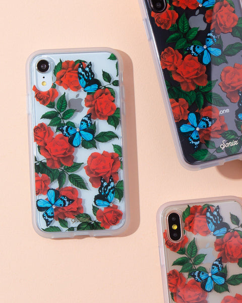 Cases - Rhinestone Butterfly Garden, IPhone XR
