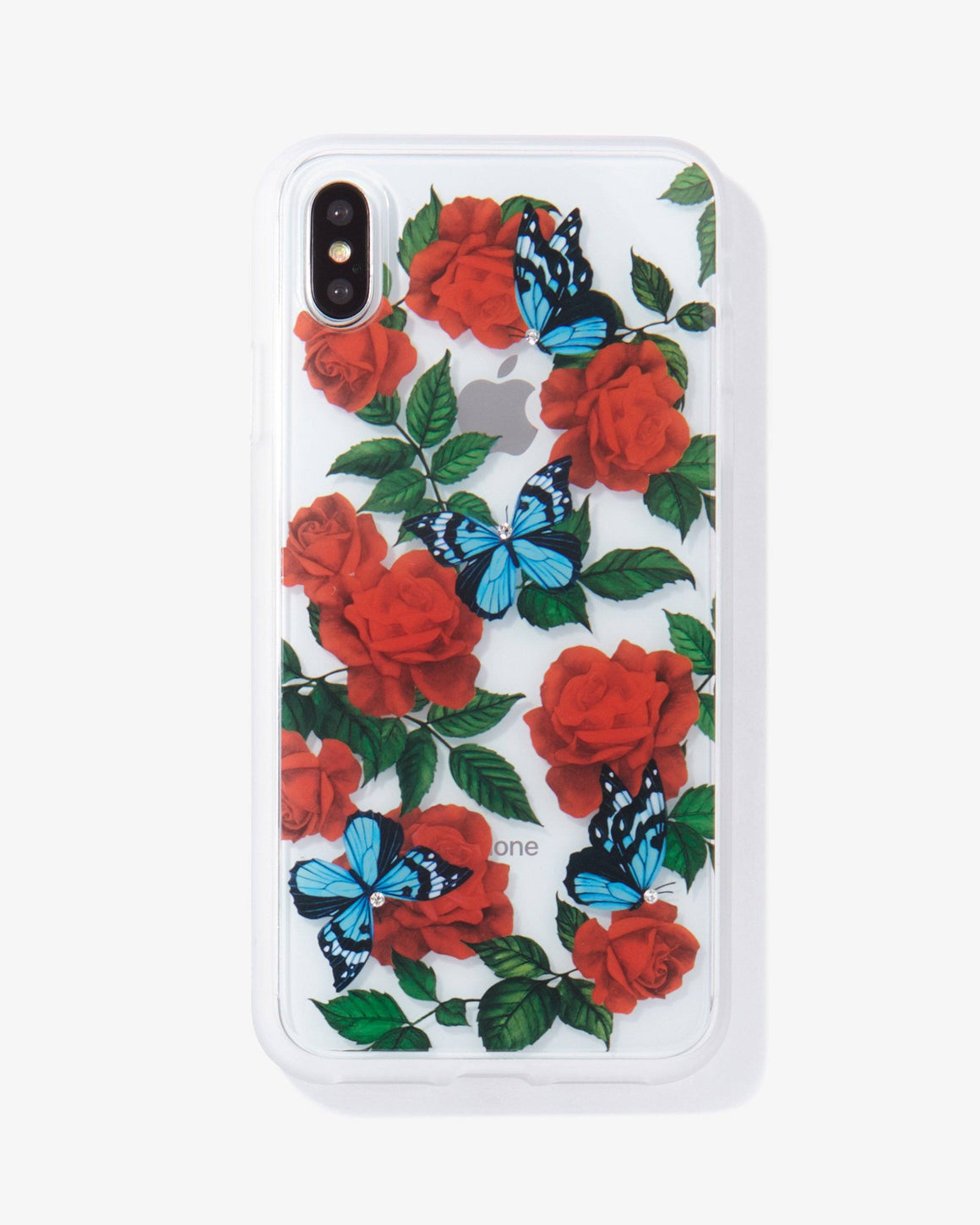 Rhinestone Butterfly Garden iPhone Case
