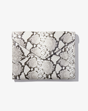 "13"" Laptop Clutch - Gray Python You're an animal"