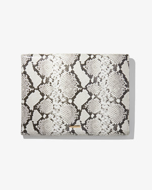 "15"" Laptop Clutch - Gray Python Best sellers"