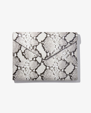"15"" Laptop Clutch - Gray Python Wild child"