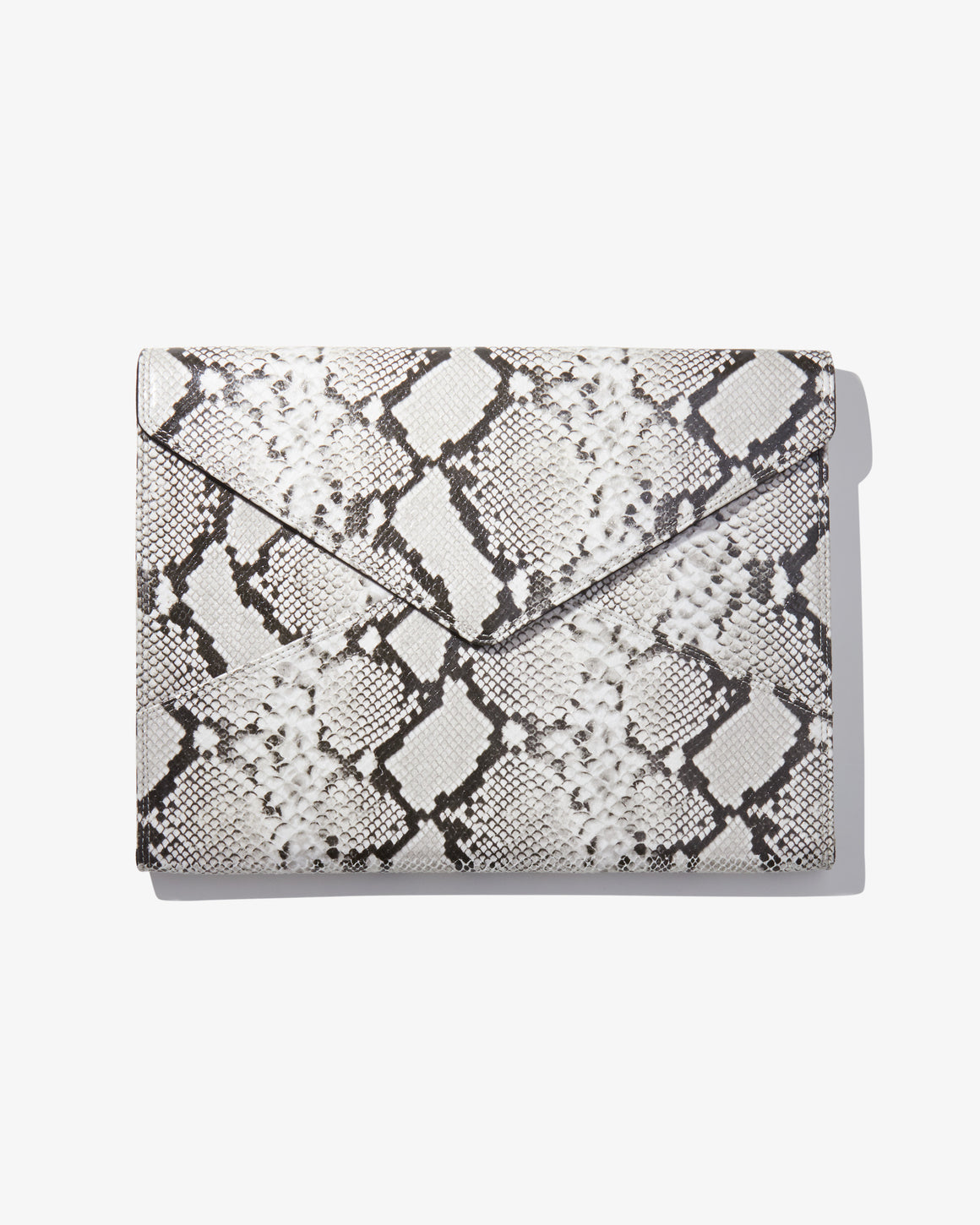 "15"" Laptop Clutch - Gray Python"