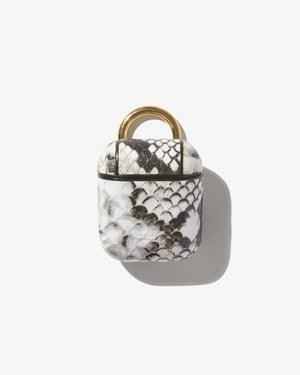 AirPod Case - Gray Python Wild child