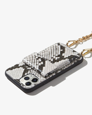 Tres Case Crossbody - Gray Python,  iPhone 11 Pro / XS / X Just in