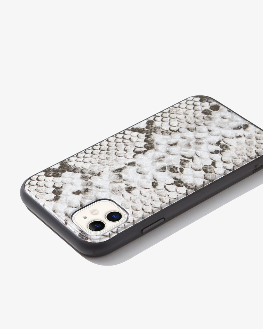 Gray Python Leather, iPhone 11 / XR