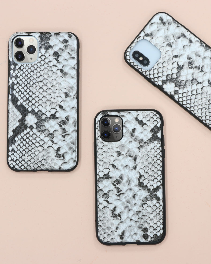 Gray Python Leather, iPhone (11 / XR)