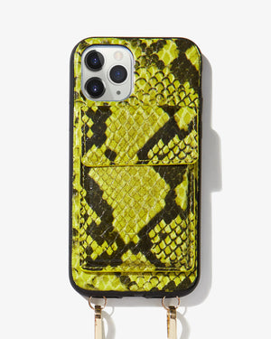Tres Case Crossbody - Neon Green,  iPhone 11 Pro / XS / X Wild child