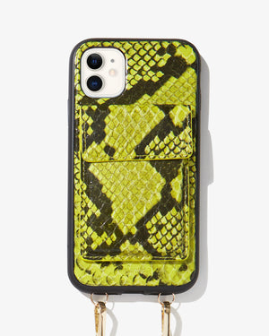 Tres Case Crossbody - Neon Green, iPhone (11 / XR) Wild child