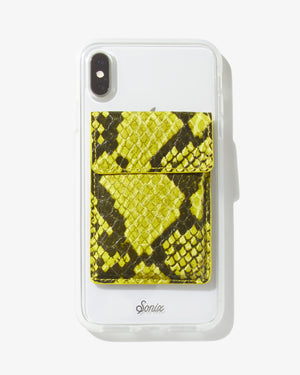 Wallet Sticker - Neon Green Python