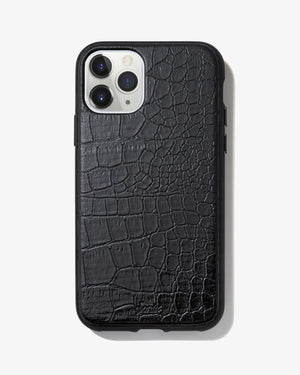 Onyx Croc iPhone Case Iphone 11 pro