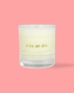 Ride or Die Candle - 8oz. The candle collection