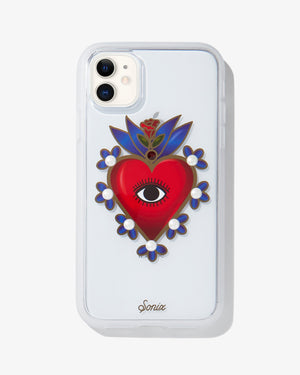 Sacred Heart iPhone Case Red