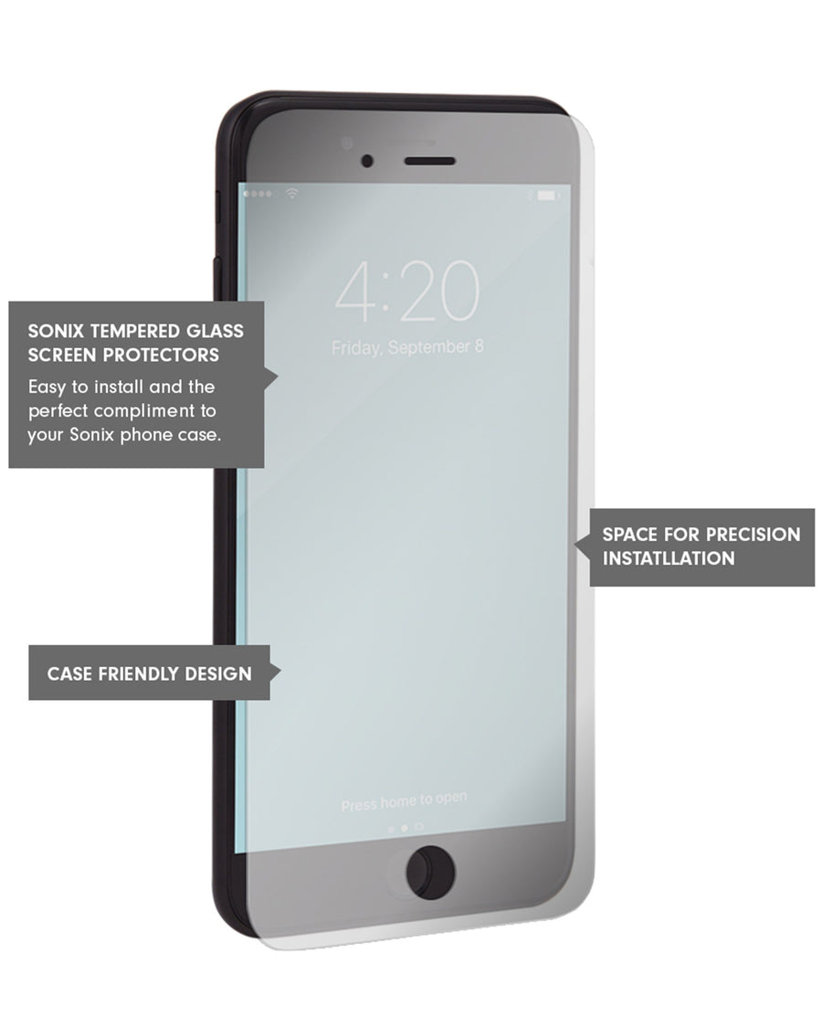 Flatlay Glass Screen Protector (2-Pack), iPhone 8/7/6 Plus