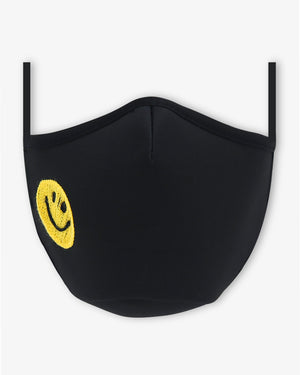 Sonix X LS&B Embroidered Face Mask - Smiley Face Sonix x lot, stock & barrel