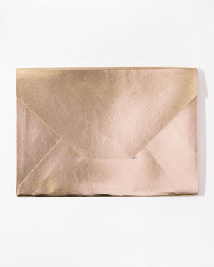 Stationery - Document Clutch - Rose Gold Sonix paper