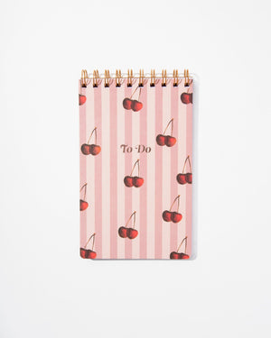 Stationery - To Do Pad - Cherry Stripe Paper - ri