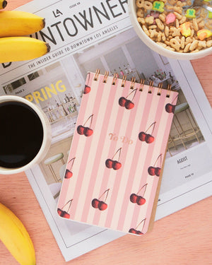 Stationery - To Do Pad - Cherry Stripe Sonix paper