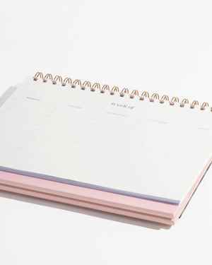 Stationery - Weekly Desk Planner - Gingham Planners + calendars